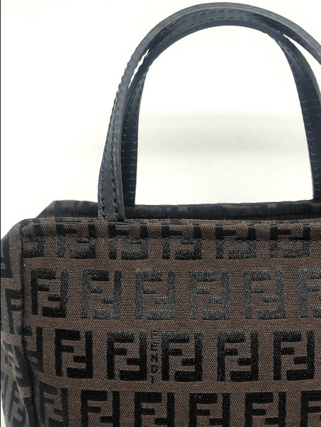 FENDI - MINI ZUCCA SQUARE BAG