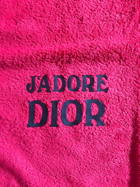 DIOR - J'ADORE BLACK AND RED BEACH TOWEL