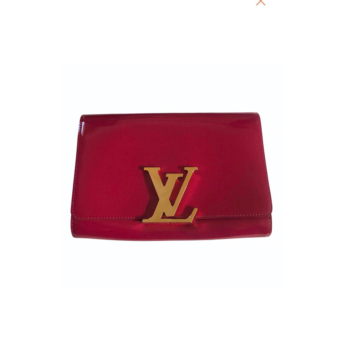 LOUIS VUITTON - LOUISE PINK PATENT CLUTCH