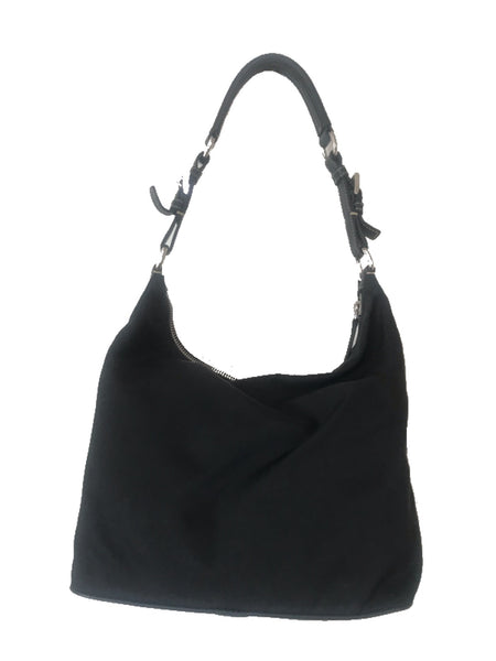 PRADA - BLACK TESSUTO HOBO BAG
