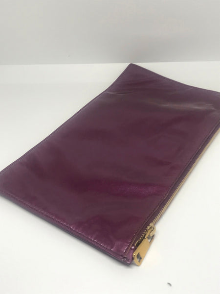 YVES SAINT LAURENT - PURPLE ADRESS POUCH