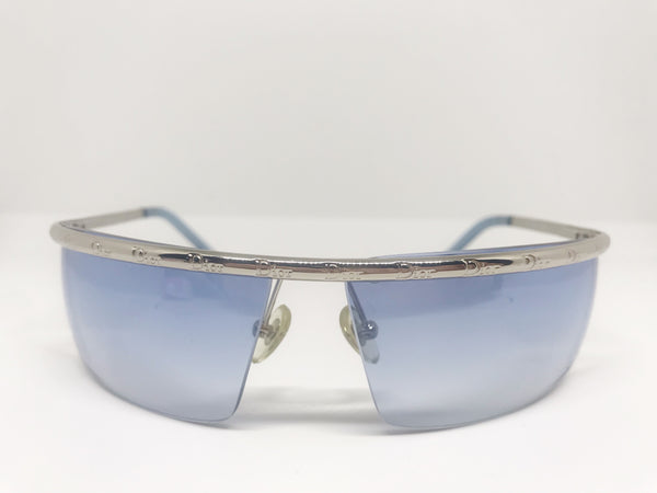 DIOR - BLUE LOGO IROQUOI MASK SUNGLASSES