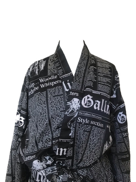 JOHN GALLIANO - GAZETTE PRINT BLACK ROBE