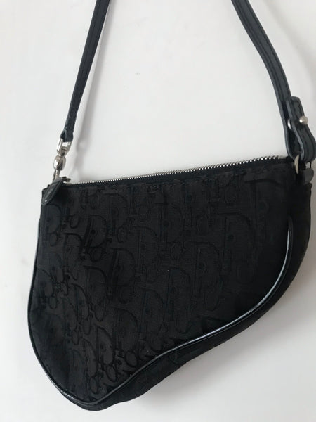 DIOR - VERY RARE BLACK CANVAS BABY SADDLE