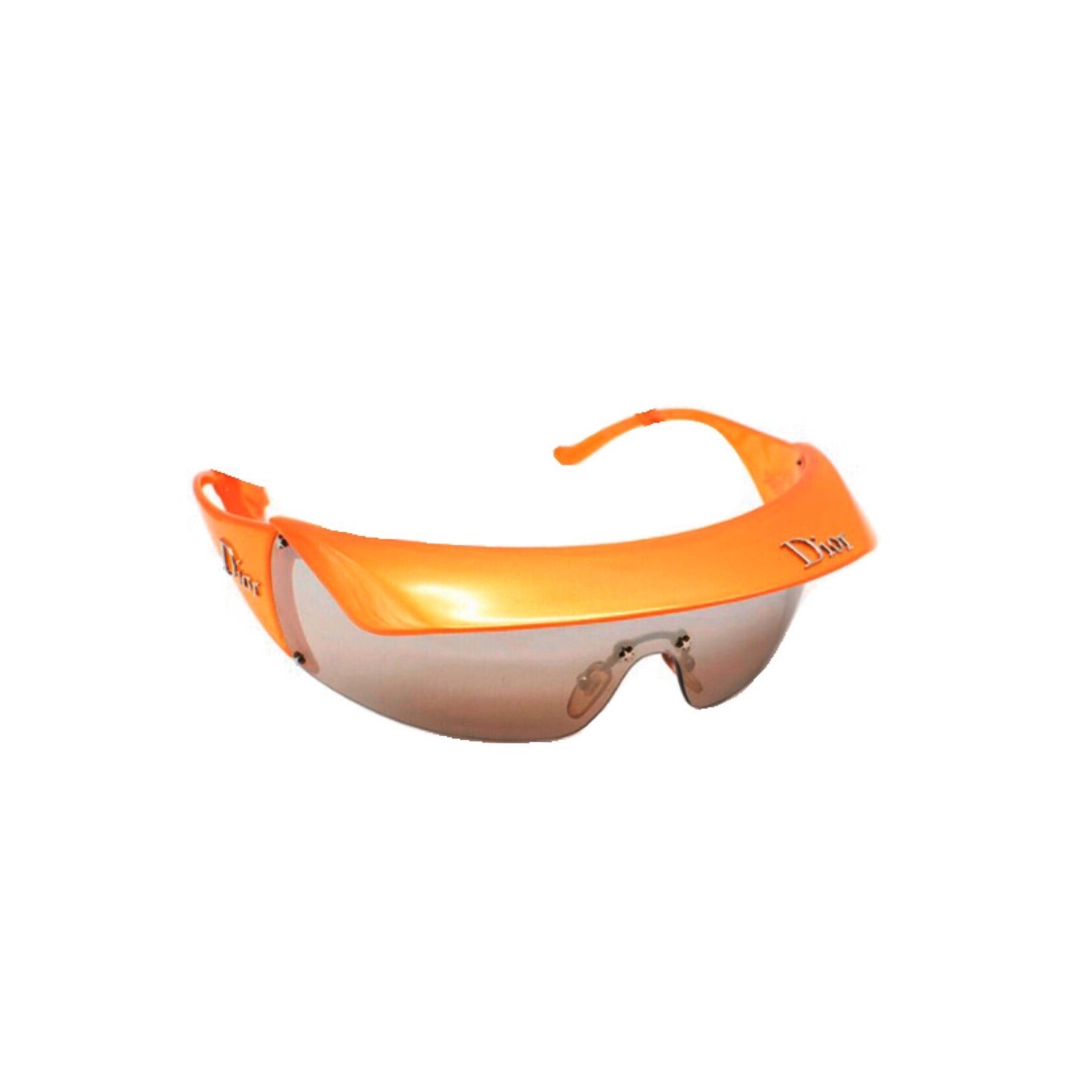 DIOR - FALL 2004 TANGERINE GOLF REMOVABLE VISOR SUNGLASSES