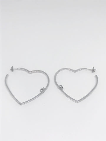 DIOR - HEART SILVER EARRINGS