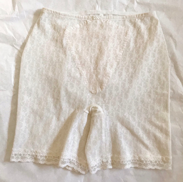 DIOR - OBLIQUE OFF WHITE BIKER SHORTS