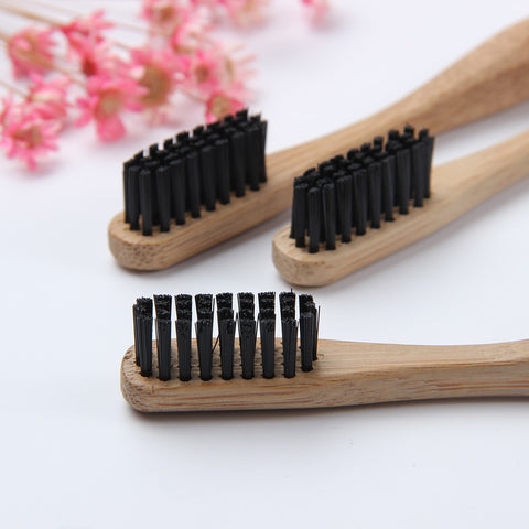 Eco-Friendly Bamboo Toothbrush with Charcoal-Infused Bristles