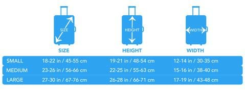 Sizing Chart Luggage Covers