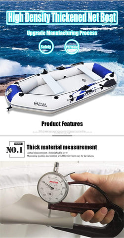 Uptown Vibez 0.9MM PVC inflatable boat 3 layer inflatables fishing boats laminated wear-resistant kayak rubber boat for fishing