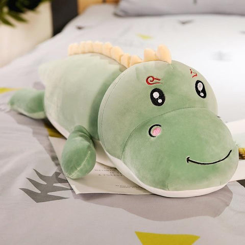 Uptown Vibez 120cm / green smile Dinosaur Plush Pillow