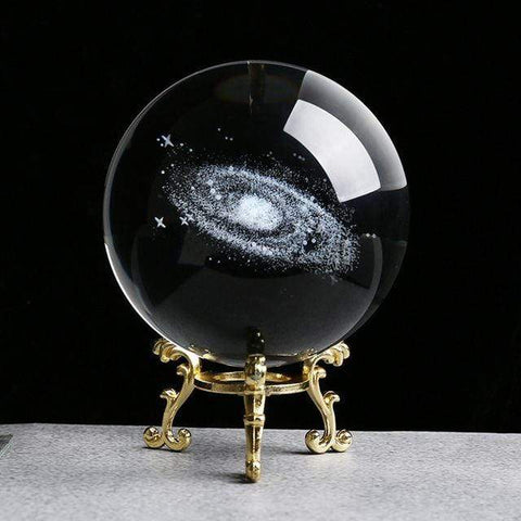 Uptown Vibez 8cm gold base1 Solar System Crystal Ball
