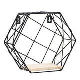 Uptown Vibez A Iron Hexagonal Storage Shelf