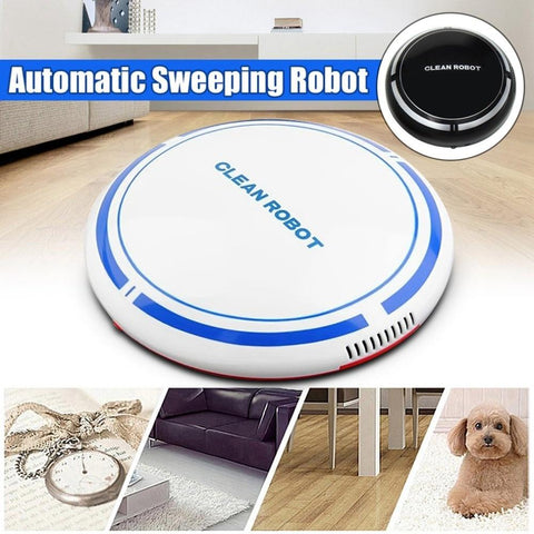 Uptown Vibez Automatic USB Rechargeable Smart Robot Vacuum Floor Cleaner Sweeping Suction Household Low Noise Dust Collector