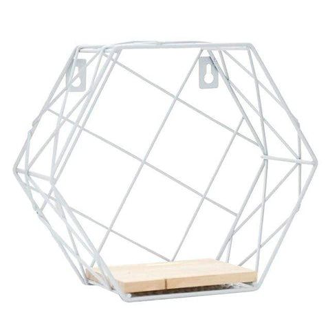 Uptown Vibez B Iron Hexagonal Storage Shelf