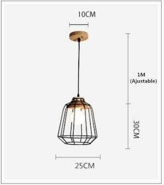 Uptown Vibez B Type LED 7W / warm Light Nordic Iron Hanging Cage Lamp