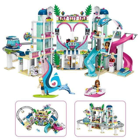 Uptown Vibez Black Friends Heartlake City Resort Top Hotel Compatible With Girls Friends  Lepining Figures Model Building Blocks Bricks Toys Gift