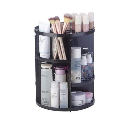 Uptown Vibez Black Rotating Make-Up Organizer