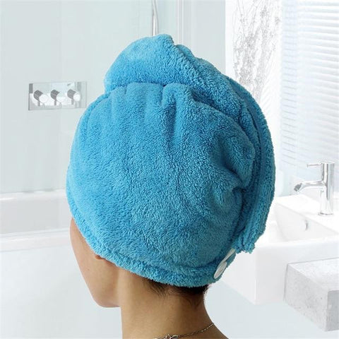 Uptown Vibez Blue / 25x65cm / China Quick Drying Hair Towel