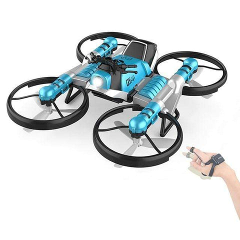 Uptown Vibez Blue Quadcopter Motorcycle RC Drone Camera