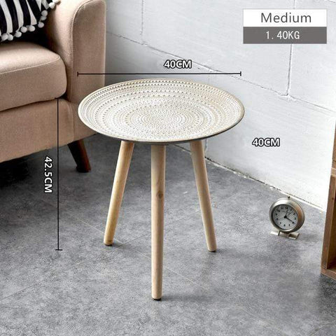 Uptown Vibez Brown Large Gianna Round Coffee Table