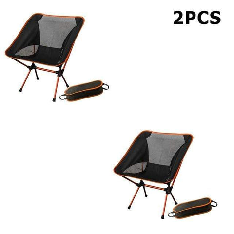 Uptown Vibez China / 2PCS orange Portable Camping Beach Chair