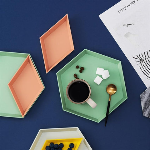 Uptown Vibez Colorful Geometric Trays