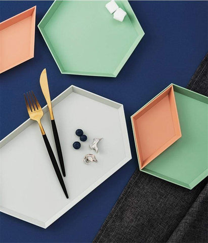 Colorful Geometric Trays