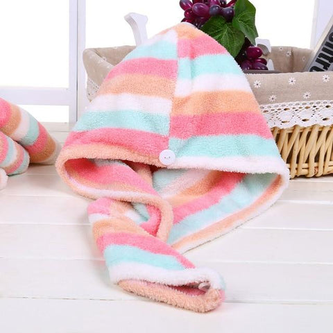 Uptown Vibez Colorful Stripe / 25x65cm / China Quick Drying Hair Towel