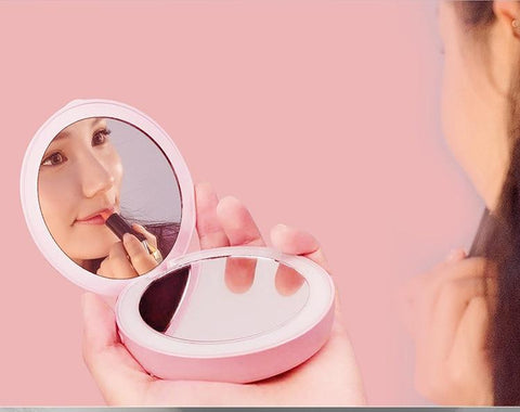 Uptown Vibez Compact Mirror | LED Light | Power Bank