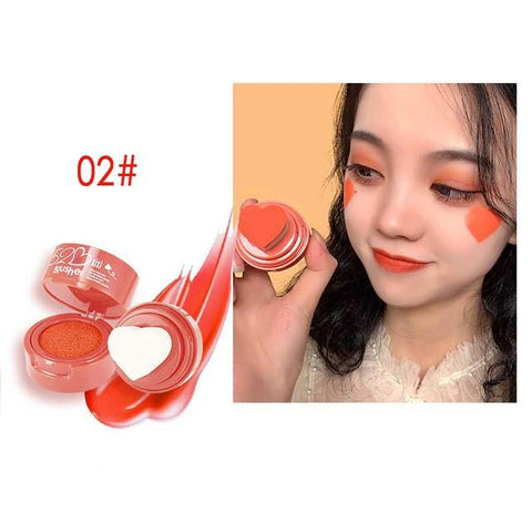 Uptown Vibez cream orange / CHINA Heart Stamp Blusher
