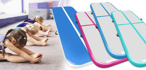 Uptown Vibez Fast Delivery Inflatable Air Track 2m 3m 4m Gymnastics Professional Airtrack Yoga Sport Wrestling Prevent Injuries Tumbling Mats