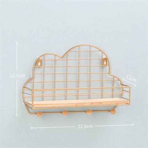 Uptown Vibez Gold Cloud Shelf