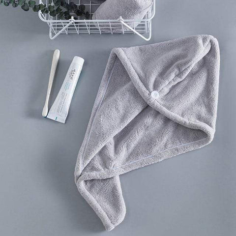 Uptown Vibez Gray / 25x65cm / China Quick Drying Hair Towel