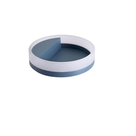 Uptown Vibez Gray-Blue / 30cm Round LED Wall Lamp