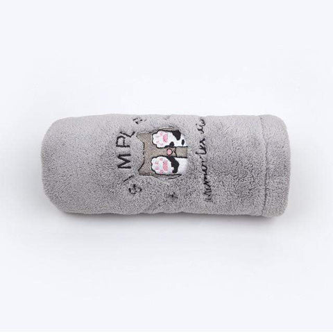 Uptown Vibez Gray Cat / 25x65cm / China Quick Drying Hair Towel