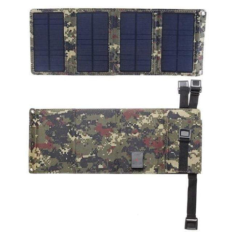 Uptown Vibez Green Camouflage Solar Powered Foldable Phone Charger