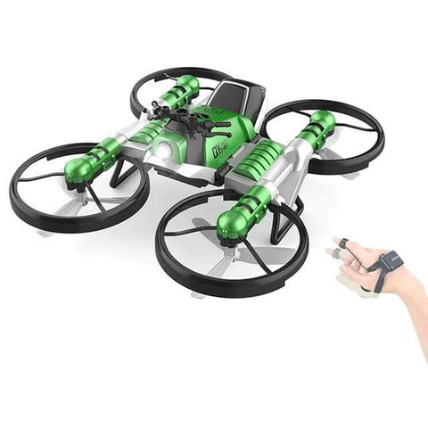 Uptown Vibez Green Quadcopter Motorcycle RC Drone Camera