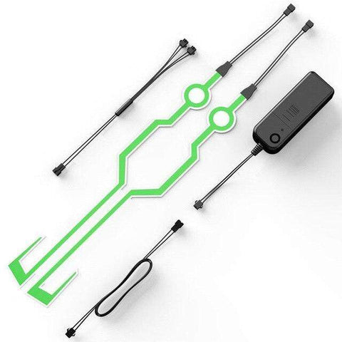 Uptown Vibez Green Tron Inspired Motorcycle LED Kit