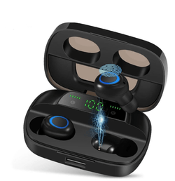 Uptown Vibez HIFI WATERPROOF TOUCH CONTROL HEADSET - BLUETOOTH 5.0 EARPHONES WIRELESS EARBUDS WITH POWER BOX FOR SWIMMERS SPORTS/GAMES