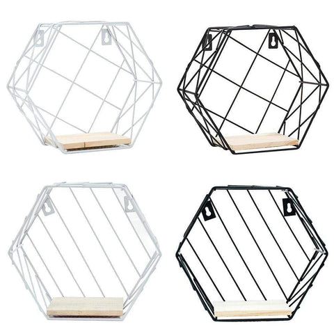 Uptown Vibez Iron Hexagonal Storage Shelf