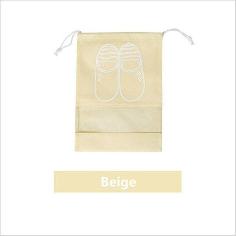 Uptown Vibez L / 02 Beige Shoes Organizer Bag for Travel