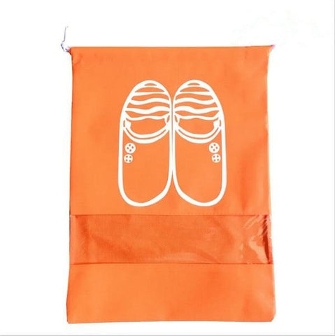 Uptown Vibez L / 07 Orange Shoes Organizer Bag for Travel