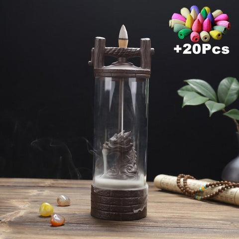 Uptown Vibez M14 with 20cones ARCANE DRAGON INCENSE BURNER