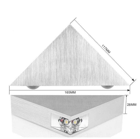 Uptown Vibez Modern LED Triangle Lampure Wall Sconce