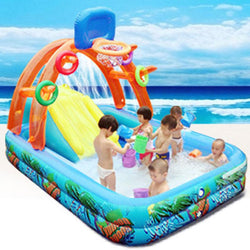 Uptown Vibez New Water Slide For Children Fun Lawn Water Slides Inflatables Pools For Kids Summer Children's Slide Set Backyard Outdoor Toys