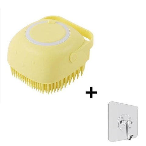 Uptown Vibez one set  yellow Silicone Bath Massage Soft Brush
