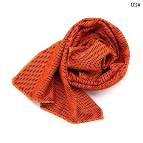 Uptown Vibez orange Instant Cooling Towel