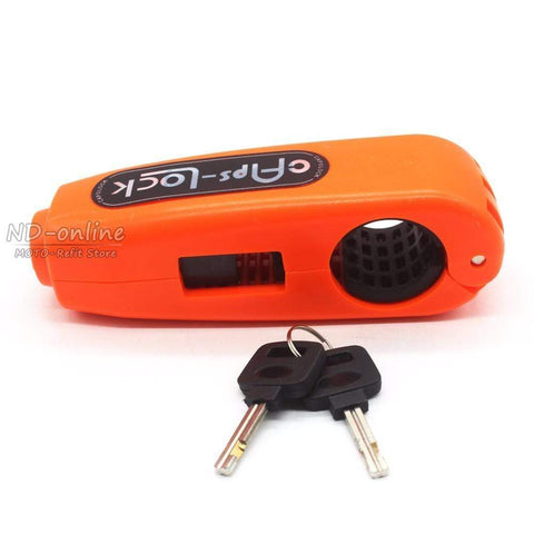 uptown vibez Orange Motorcycle Safety Grip Lock