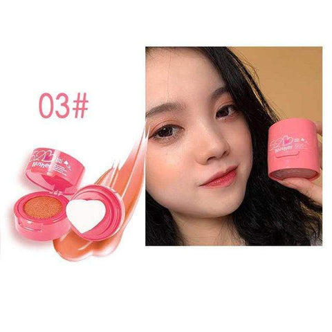 Uptown Vibez Peach powder / CHINA Heart Stamp Blusher